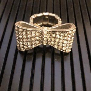 Stretchy Rhinestone Bow Ring